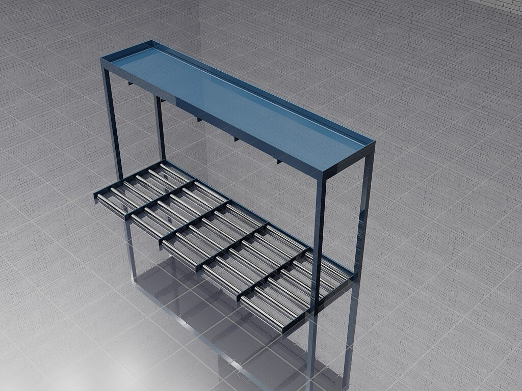 Forklift Battery Rack Rendering