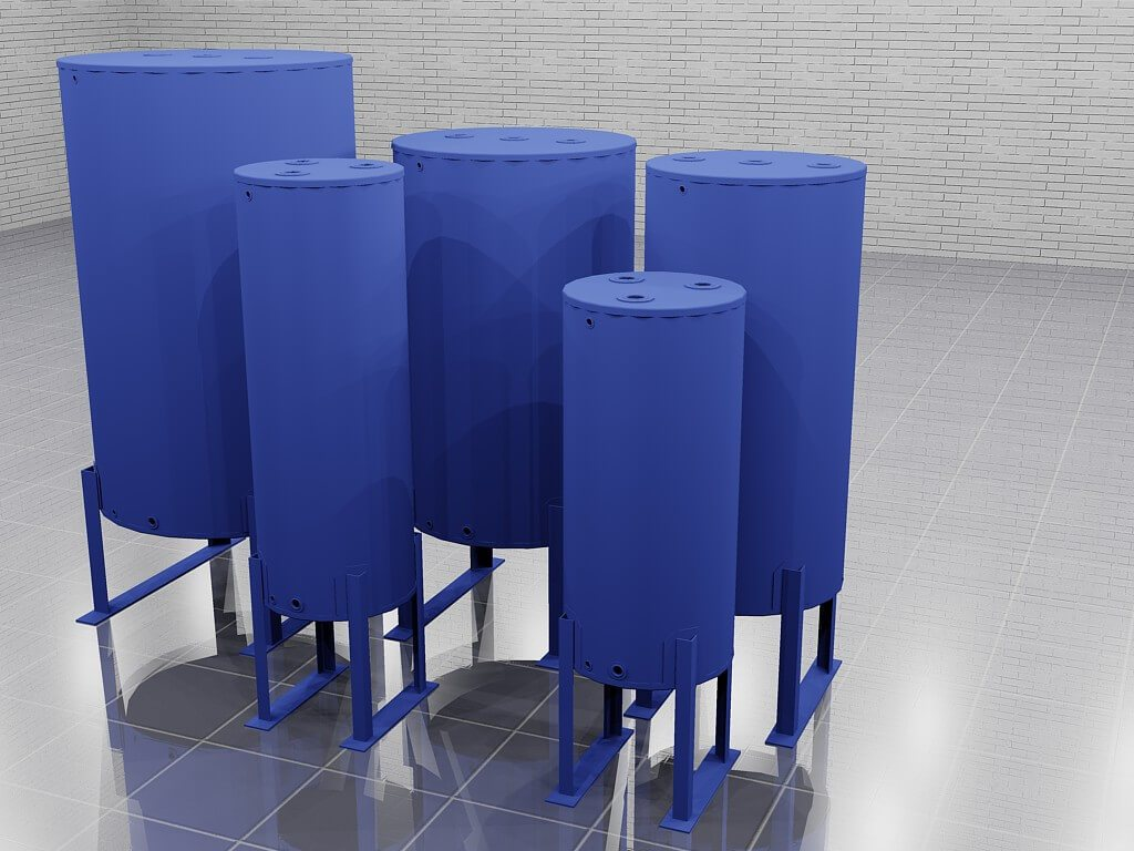 Cylindrical Bulk Tanks Rendering