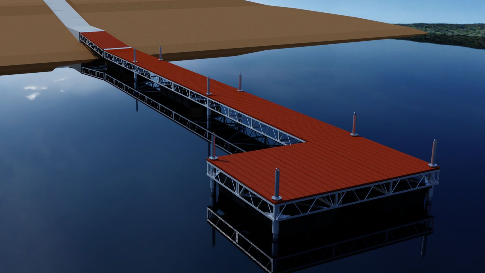 Flotation Dock Rendering