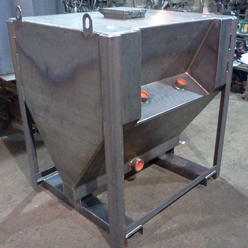 tapered bottom storage tank