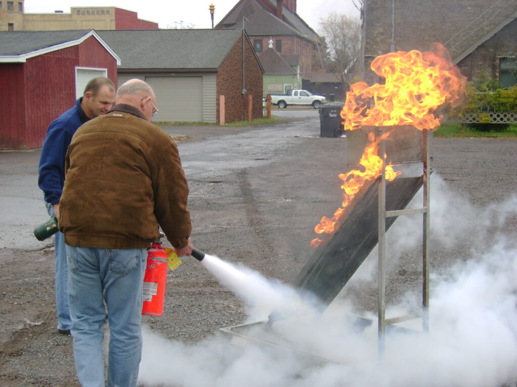 fire extinguisher training pan