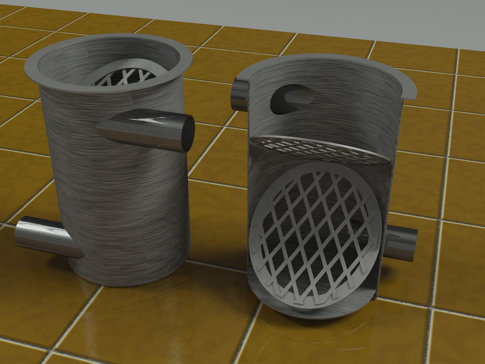rendering of specialty stainless steel filter