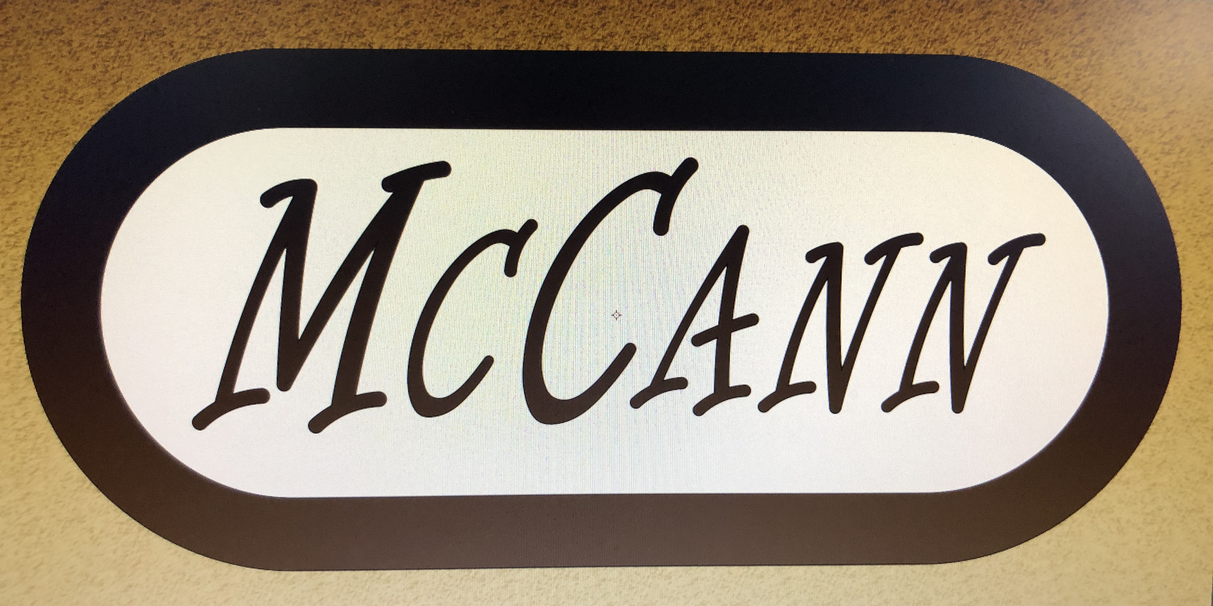 family name decorative sign