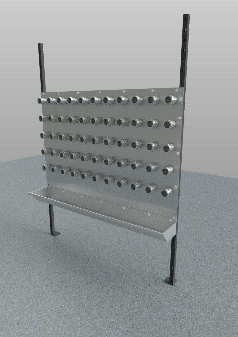 vacuum attachment panel