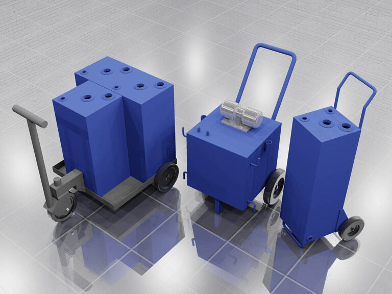 tanks with wheels or casters