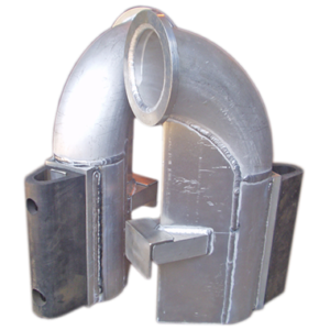 industrial aluminum elbow piping sections