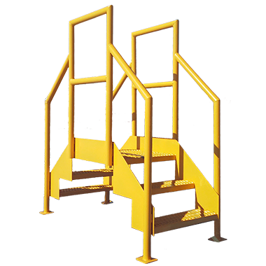 welding - crossover stair section