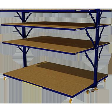 folding industrial shelf unit