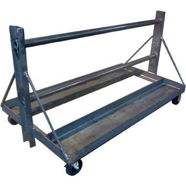 portble cart for applying shipping wrap