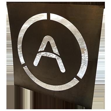 decorative letter A cutout