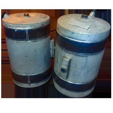 repaired aluminum fuel tanks