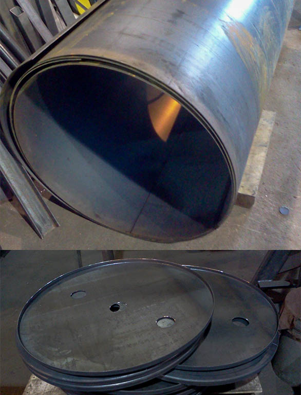 tank parts before assembly