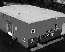 contact - aerial view of barkers welding main building