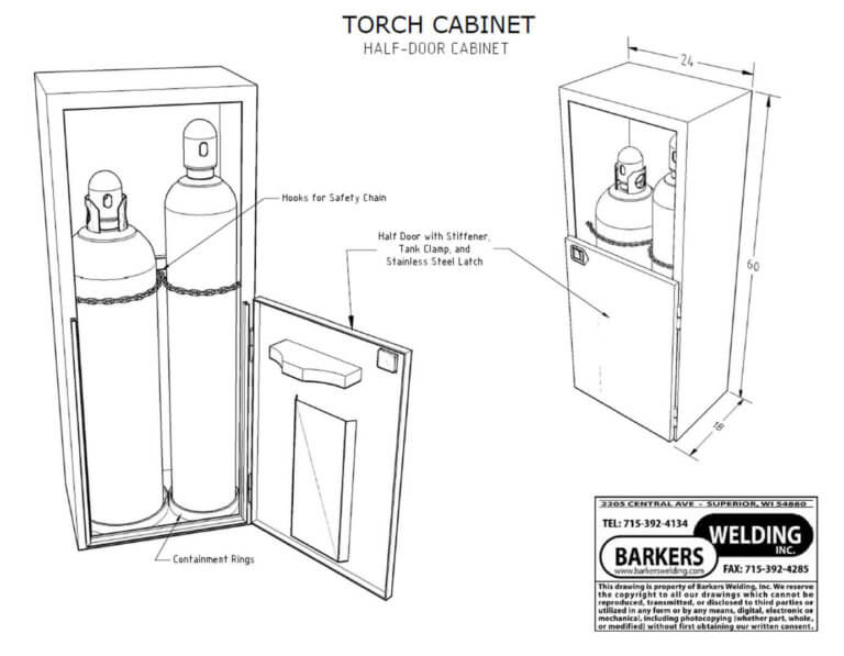 service truck torch cabinet