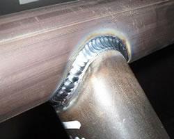 repaired weld on aluminum railing