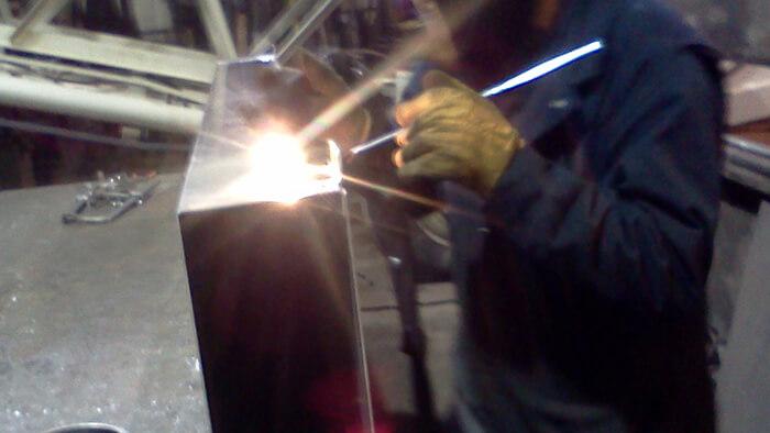 tig welding specialty marine fuel tank