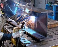 welding on wide flange beam