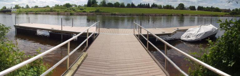 aluminum flotation dock