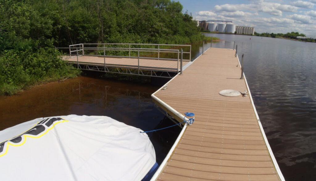 aluminum floatation dock