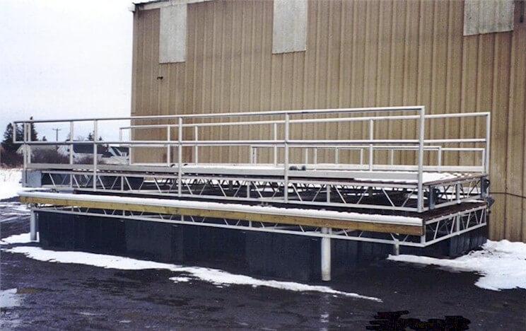 aluminum dock sections