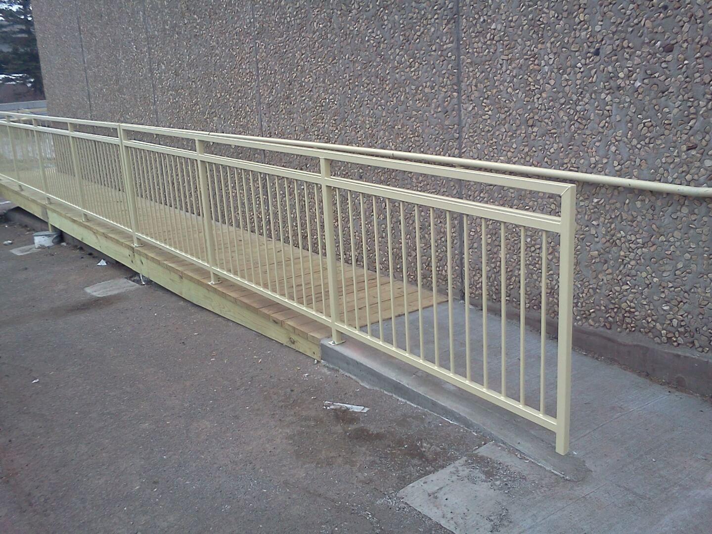 custom handicap ramp railing