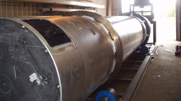 fabricated steel dryer tube