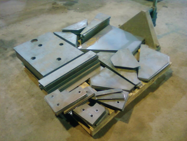 pallet of steel parts