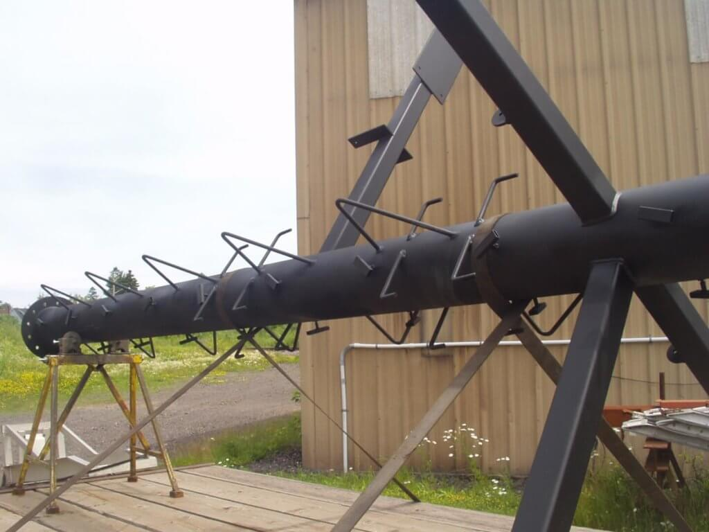 industrial services - fabricated mast for great lakes boat