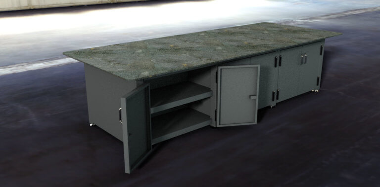 6 cabinet table