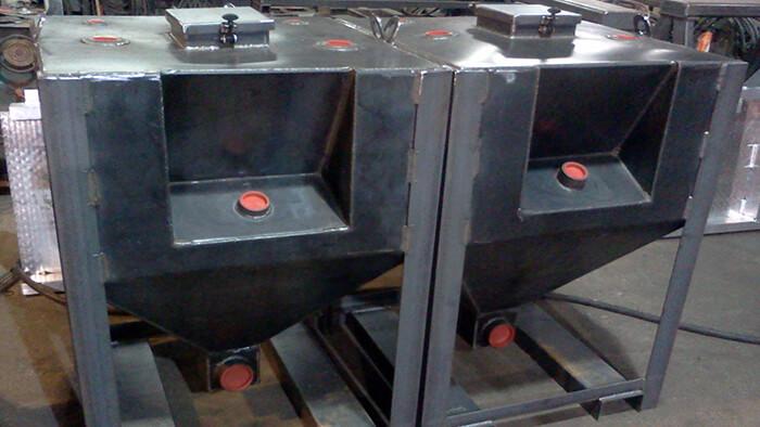 tapered bottom tanks